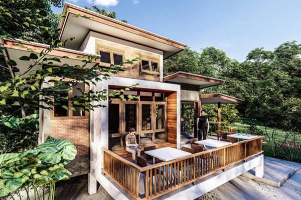 แบบบ้านในสวน สวยๆน่าพัก