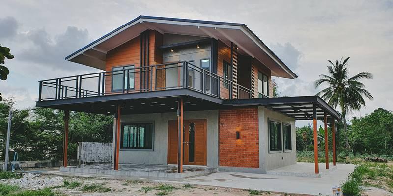 บ้านครึ่งปูนครึ่งไม้ งบไม่แพงทำง่าย